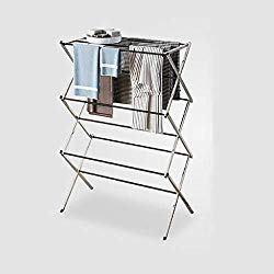 Xesvk Freestanding Coat Rack, Foldable Drying Rack Horse Extendable Telescopic Clothes Dryer for Hang Laundry US Stock